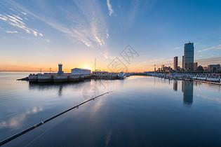宁静的港湾城市建筑图片
