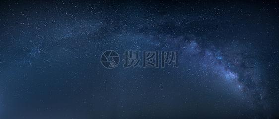星空银河全景素材图片