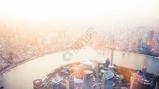 日落上海外滩图片
