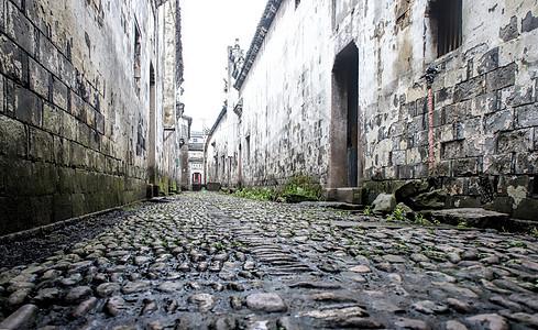 江南古村的石头路图片