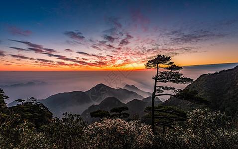 三清山日出云海自然美景图片