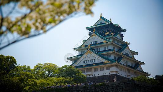 日本大阪城天守阁风貌图片