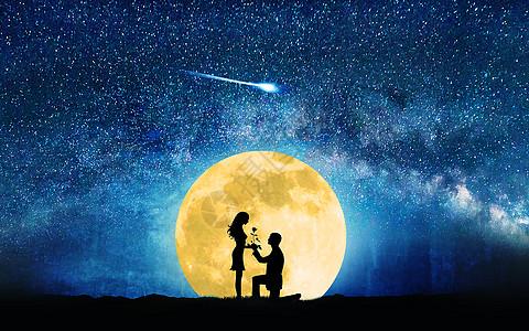 月光下的爱情图片