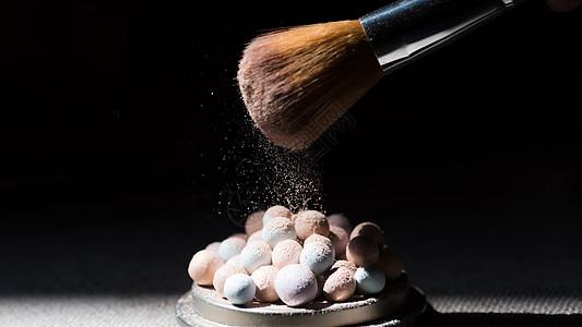 唯美彩妆化妆品散粉图片