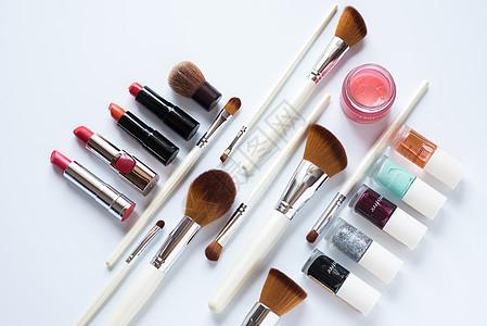 唯美彩妆化妆品摆放图片
