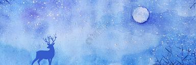 星空手绘背景图片