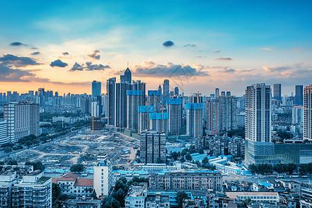 武汉新华路黄昏街景图片