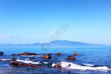 深圳大鹏蓝色的海景图片