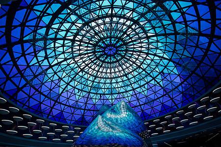 武汉中央商务区地铁站穹顶图片