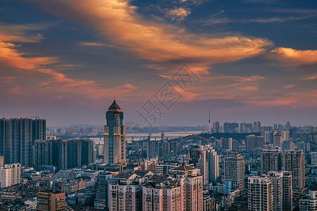武汉城市风光黄昏江汉路图片