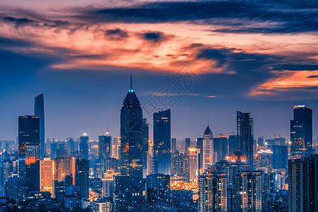 武汉城市风光西北湖金融街图片