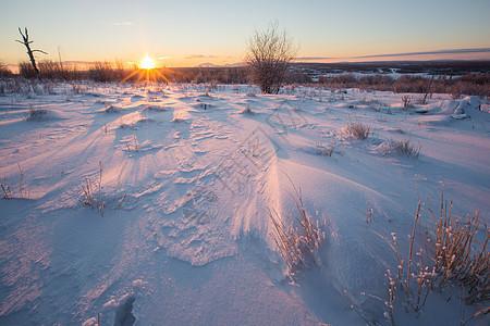 阿尔山冰雪荒原图片