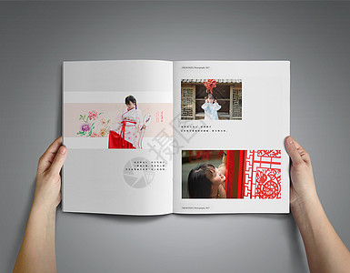 印有古装民国风女孩的书籍/杂志样机图片