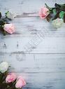 粉白玫瑰花束图片