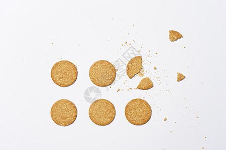 饼干摆放抠图素材图片