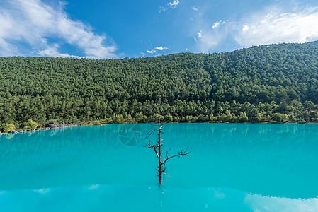 丽江玉龙雪山蓝月谷图片