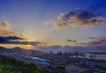盐田港的晨曦图片