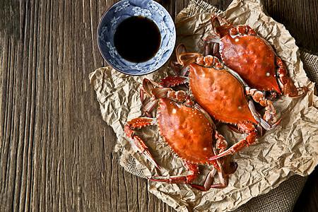 中秋美味螃蟹图片