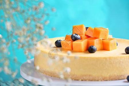 地中海芝士芒果蛋糕图片