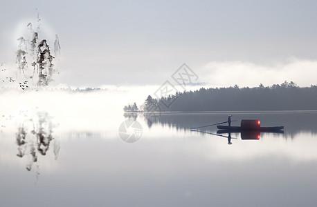 安静的渔夫图片