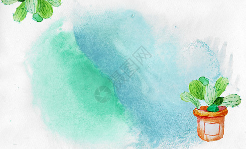 植物水彩背景图片
