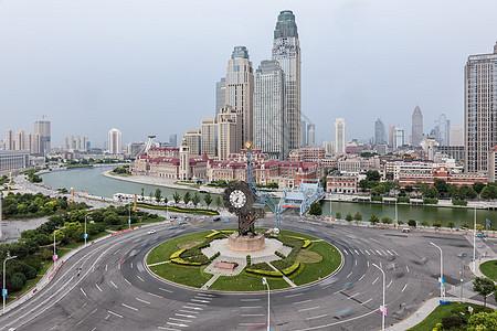 天津站广场世纪钟图片