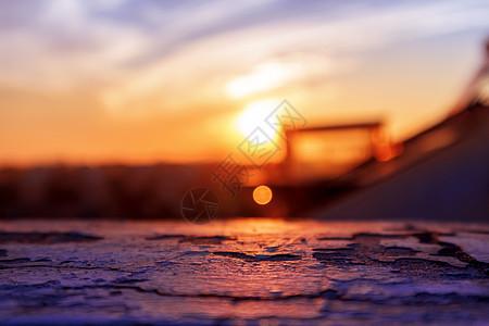 日落余晖图片