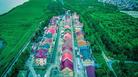 上海崇明农村航拍图片