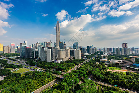 深圳城市中心区城市建筑风光图片