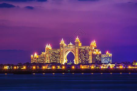迪拜魅力夜景图片