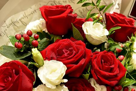 七夕情人节玫瑰花束图片