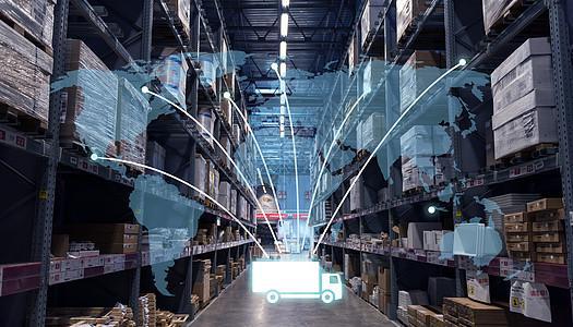 货物智能运输全球化图片