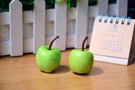 绿色小苹果摆拍图片
