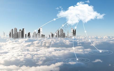云端城市图片