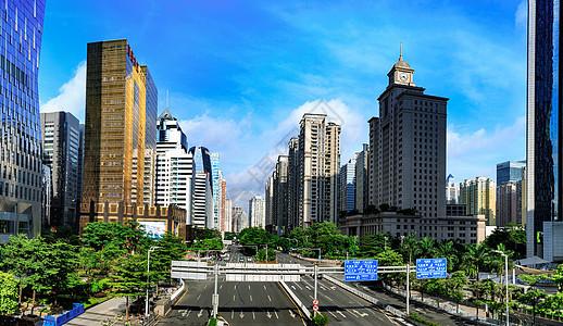 高楼林立的城市新貌图片