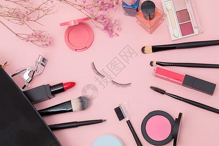 美妆化妆品平铺图片