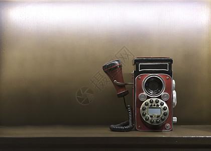 简约复古风电话背景图片