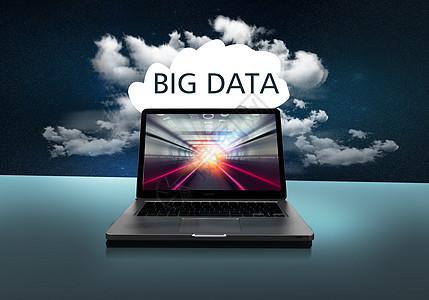 笔记本云端科技大数据图片