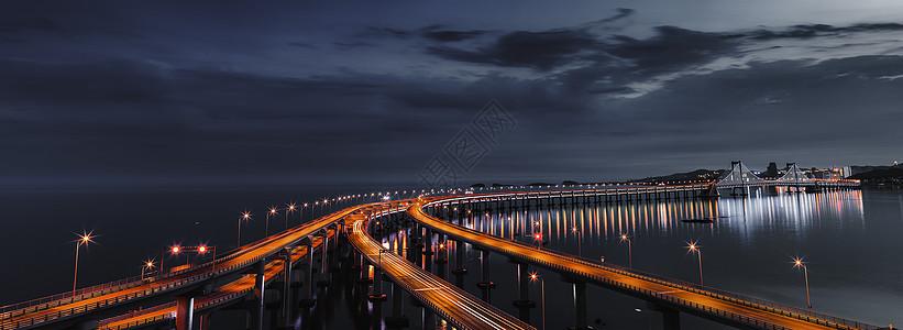 大连跨海大桥全景图片