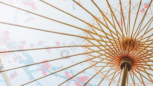油纸伞特写图片