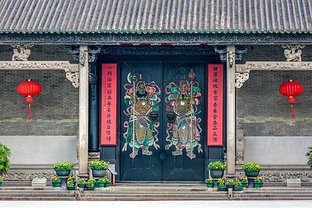 广州陈家祠门神图片
