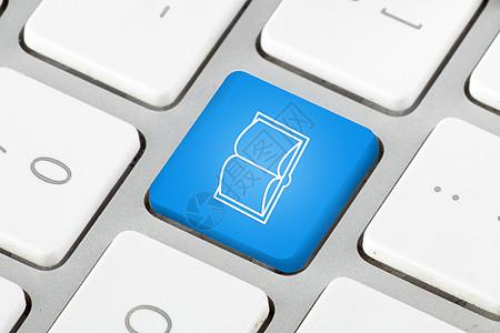 键盘上的电子书图标图片
