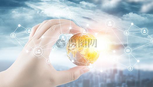 媒体全球技术概念图片