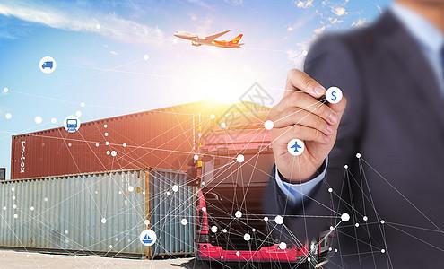 港口运输集装商务化图片