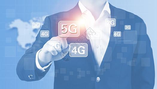 商人点击5G技术图片