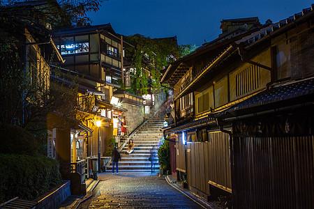 日本京都八坂塔街道图片