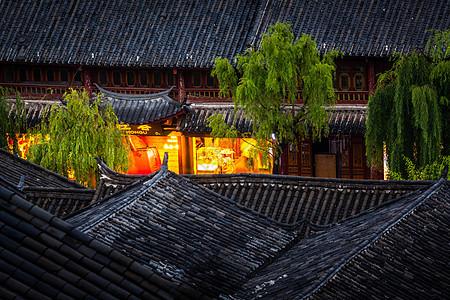 丽江古城街道图片