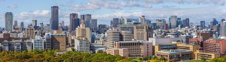 日本大阪城市景观图片