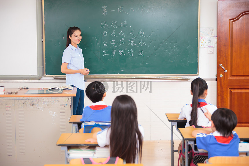 老师学生教室上课