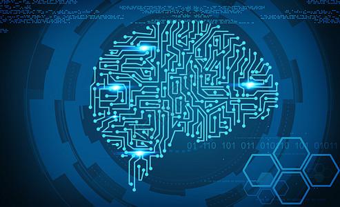 蓝色电脑线路商务科技感图片